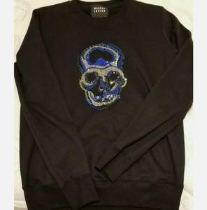 Markus Lupfer SKULL Sequin Sweatshirt